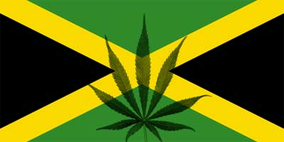 Jamaican Flag Marijuana Leaf
